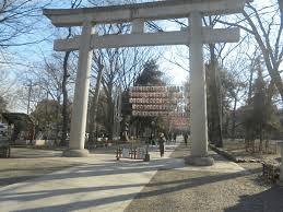 高瀬監督が殺陣を披露していた大國魂神社。